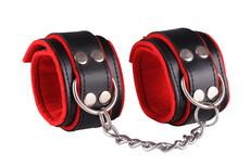 Kožená pouta na ruce - black/red