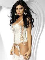 Korzet Obsessive Amoresa corset - bílá - XXL