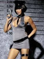 Sexy kostým Obsessive Police dress XXL - šedá - XXL