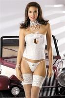 Korzet Obsessive Mylove corset - bílá - S/M